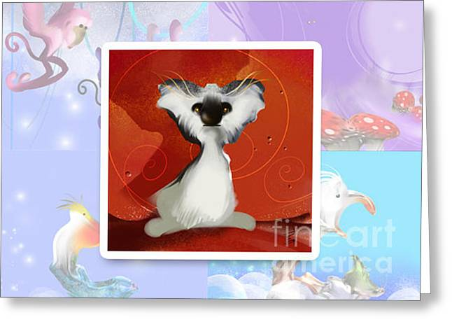 Animalkingdom 04 Greeting Card by Elfriede De Rooster