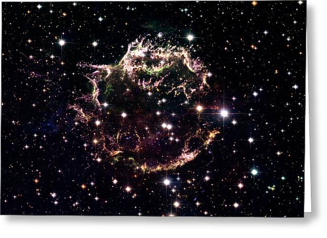 Animation Of A Supernova Explosion Greeting Card by Harvey Richer