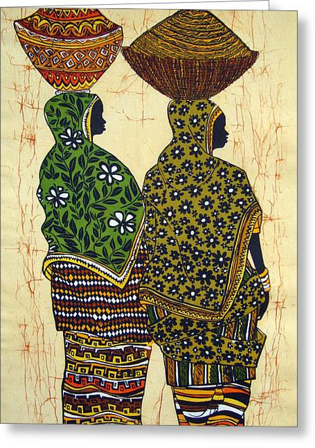Ankole Ladies From The Market Greeting Card by Joseph Kalinda