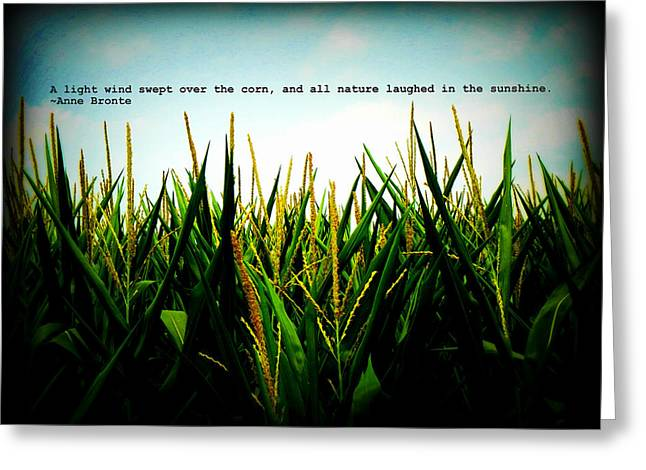 Greeting Card featuring the photograph Anne Bronte's Cornfield by Robin Dickinson