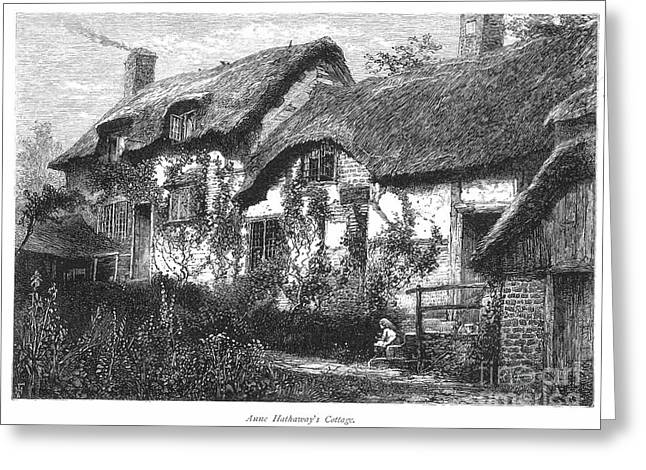 Anne Hathaways Cottage Greeting Card by Granger