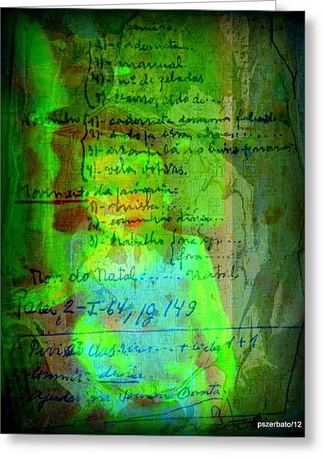 Annotations For A Life Greeting Card by Paulo Zerbato
