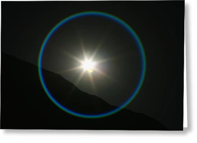 Greeting Card featuring the photograph Annular Solar Eclipse - Blue Ring At Vasquez Rocks by Lon Casler Bixby