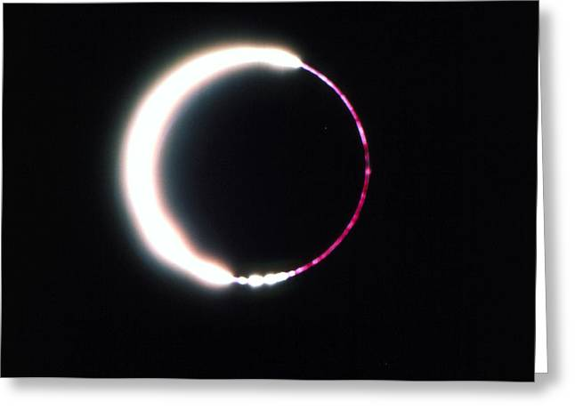 Annular Solar Eclipse, May 1984 Greeting Card by Dr Fred Espenak