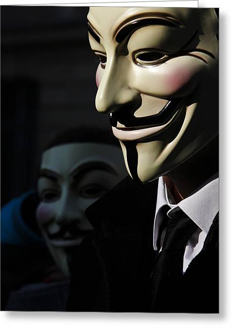 Anonymous 2 Greeting Card by Laurence Debeaux