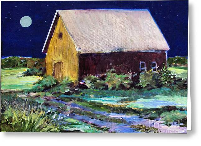 Another Barn Painting Greeting Card