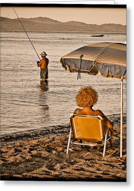 Hanioti, Greece - Another Day In Paradise Greeting Card