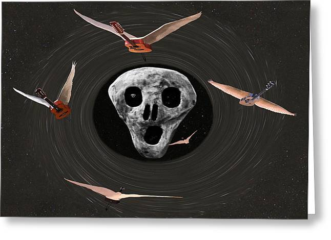 Another One Bites The Dust Greeting Card by Eric Kempson
