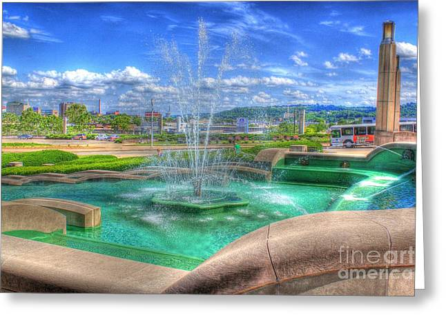 Another Photo Of Fountain At Cincinnati Museum Center Greeting Card