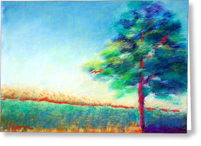 Another Tree In A Field Greeting Card by Karin Eisermann