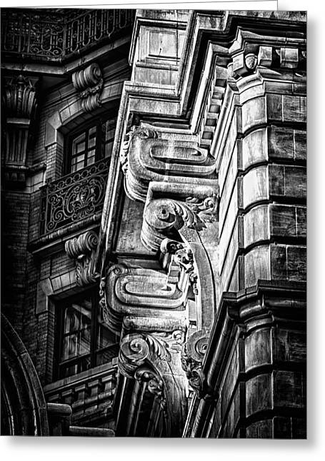 Ansonia Building Detail 1 Greeting Card by Val Black Russian Tourchin