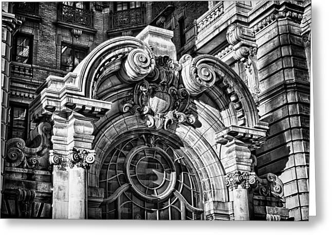 Ansonia Building Detail 2 Greeting Card by Val Black Russian Tourchin