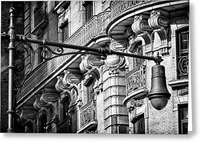 Ansonia Building Detail 34 Greeting Card by Val Black Russian Tourchin
