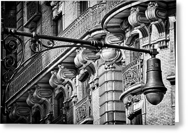 Ansonia Building Detail 35 Greeting Card by Val Black Russian Tourchin
