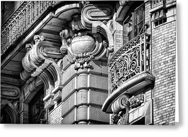 Ansonia Building Detail 37 Greeting Card by Val Black Russian Tourchin
