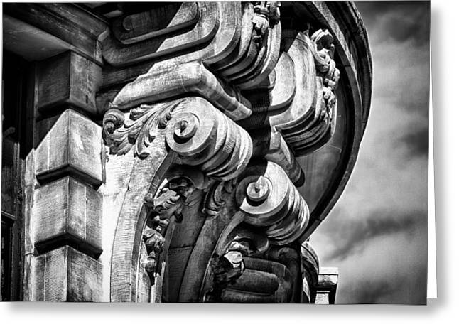Ansonia Building Detail 38 Greeting Card by Val Black Russian Tourchin