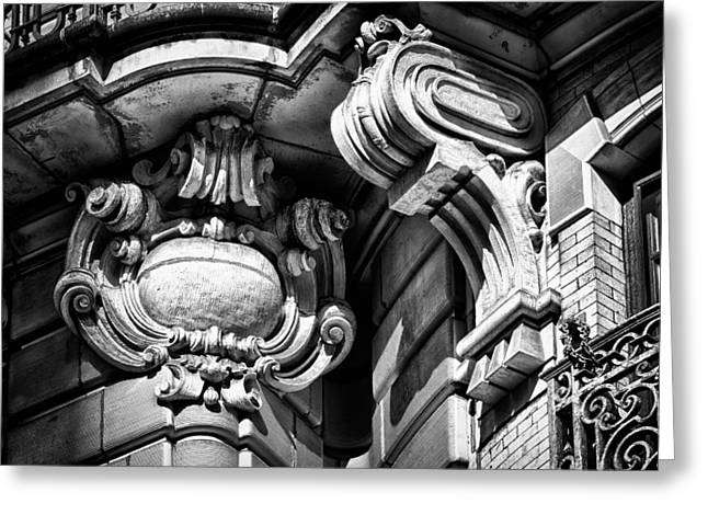 Ansonia Building Detail 39 Greeting Card by Val Black Russian Tourchin
