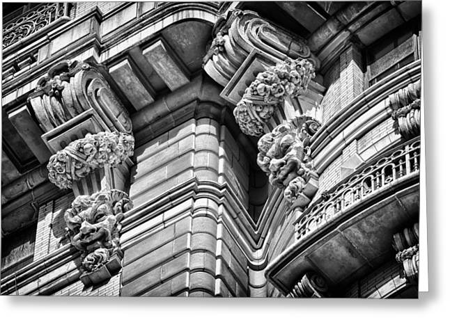 Ansonia Building Detail 42 Greeting Card by Val Black Russian Tourchin