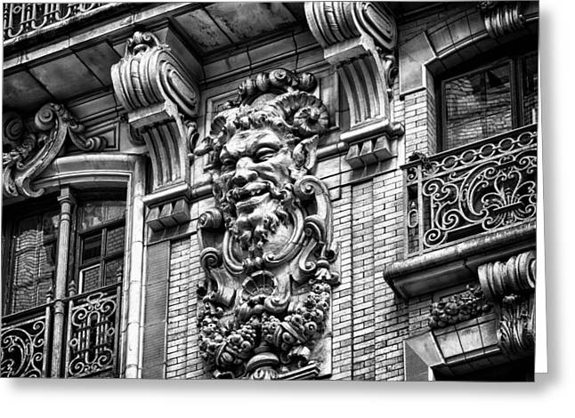 Ansonia Building Detail 44 Greeting Card by Val Black Russian Tourchin