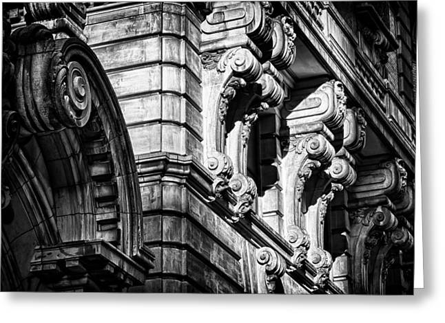 Ansonia Building Detail 8 Greeting Card by Val Black Russian Tourchin