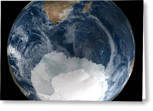 Antarctic Ice Sheet Maximum, 2005 Greeting Card by Nsidcnasa