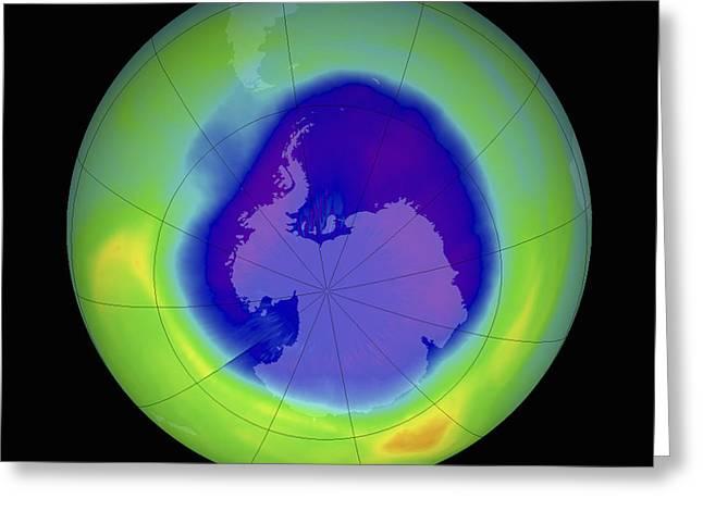 Antarctic Ozone Hole, 2007 Greeting Card by Nasa