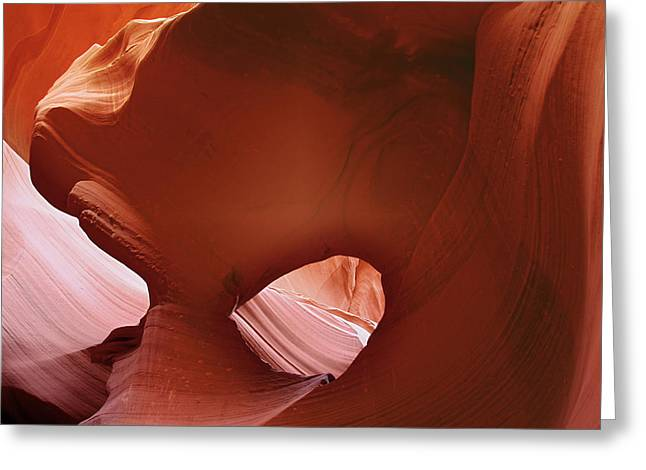Antelope Canyon - A Rare Beauty Greeting Card by Christine Till