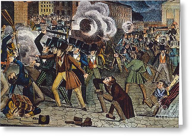 Anti-catholic Mob, 1844 Greeting Card by Granger
