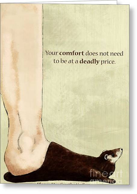 Anti-fur Greeting Card by Lara Ekblad