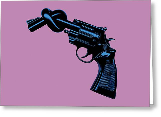 Anti Gun Greeting Card by Tim Bird
