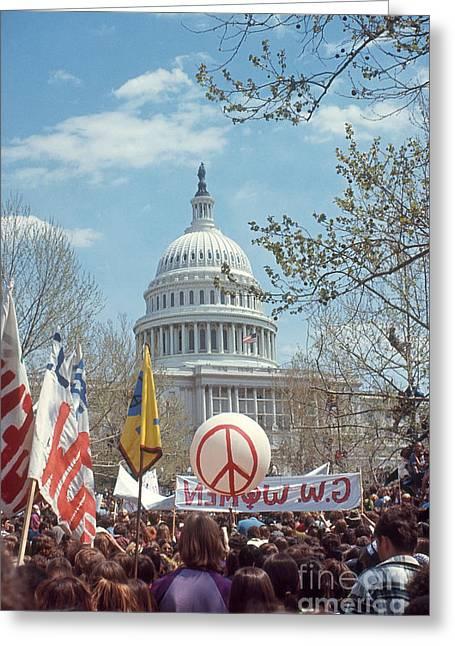 Anti-war March In Washington, D.c Greeting Card by Katrina Thomas