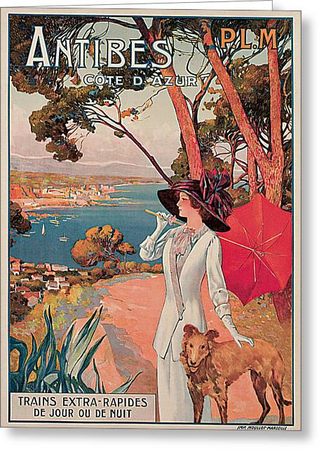 Antibes Greeting Card by David Dellepiane