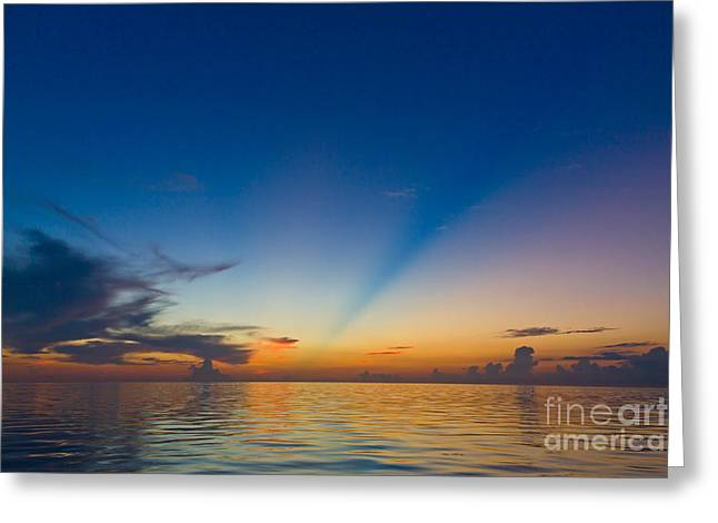 Anticrepuscular Rays Greeting Card by Jen TenBarge