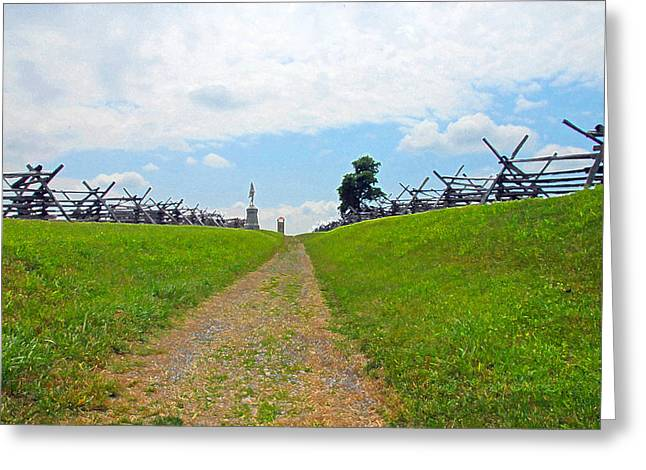 Greeting Card featuring the photograph Antietam Battle Of Bloody Lane by Cindy Manero