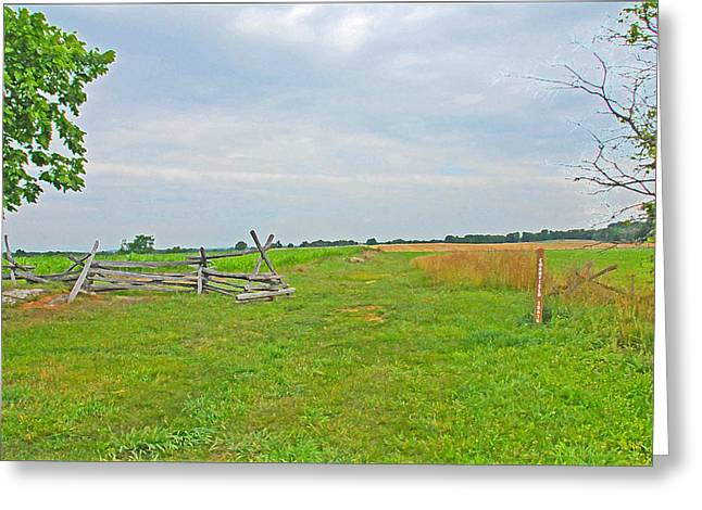 Greeting Card featuring the photograph Antietam Battle Of The Cornfield by Cindy Manero