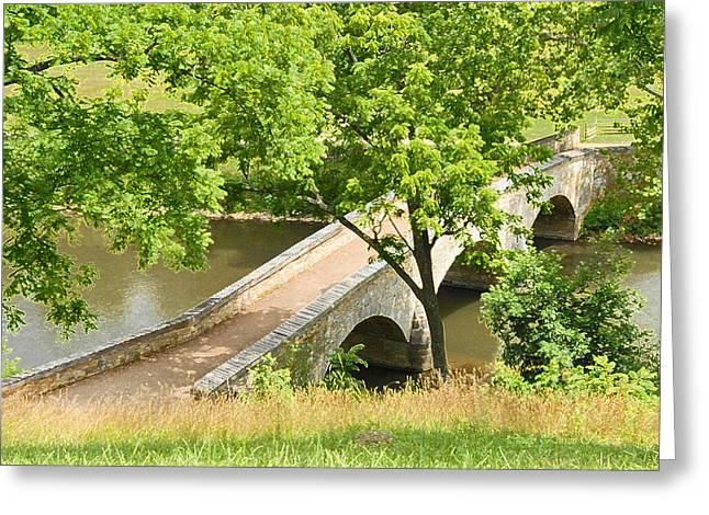 Greeting Card featuring the photograph Antietam's Burnside Bridge by Cindy Manero
