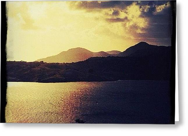 Antigua At Dusk Greeting Card by Natasha Marco