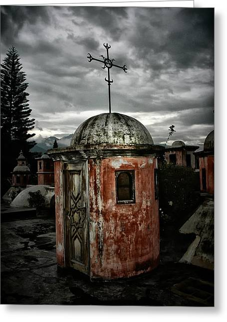 Antigua Stairwell Greeting Card
