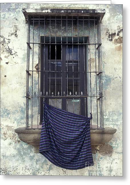 Greeting Card featuring the photograph Antigua Window Guatemala by John  Mitchell