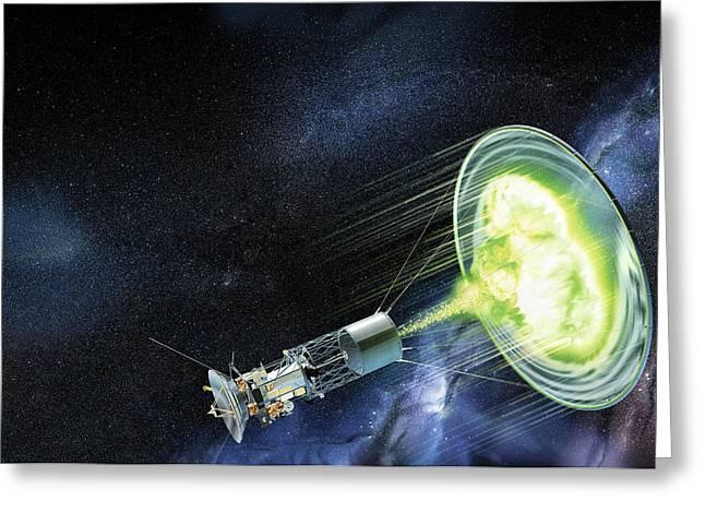 Antimatter Spaceship Greeting Card