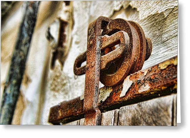 Antique - Door Rail - Rusty Greeting Card