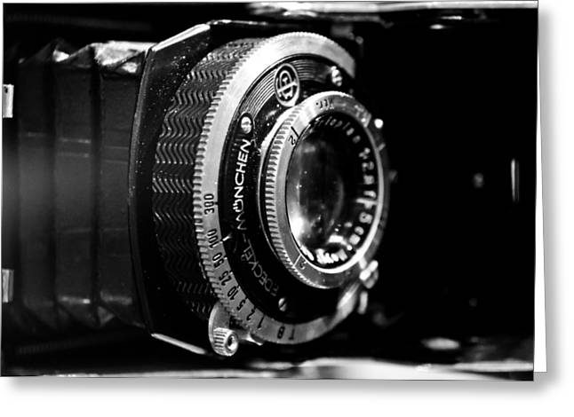 Greeting Card featuring the photograph Antique Camera by Edward Myers
