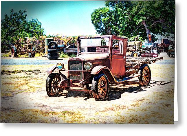 Antique Chevy Truck Greeting Card