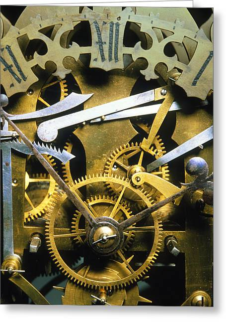 Antique Clock Greeting Card by David Parker