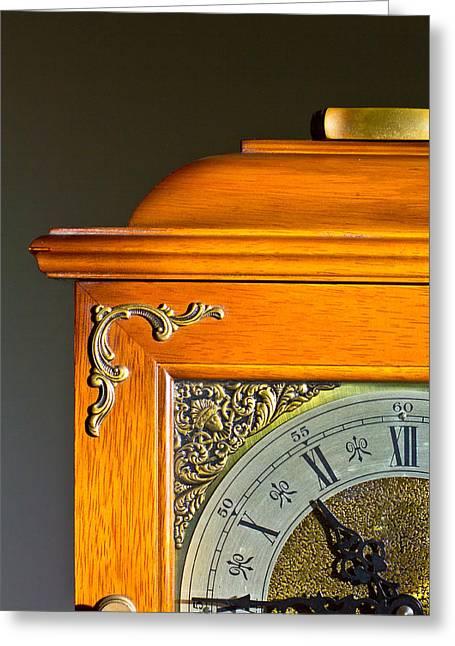 Antique Clock  Greeting Card by Ken Hunter