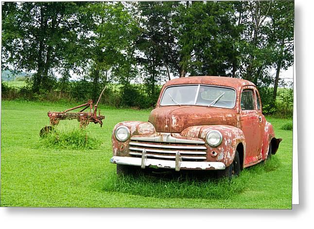 Antique Ford Car 6 Greeting Card by Douglas Barnett