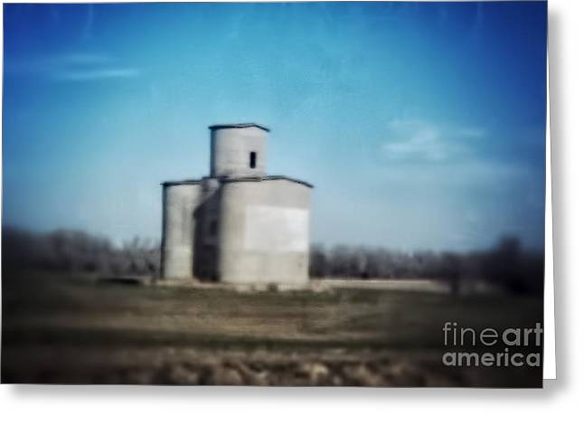 Antique Grain Elevator Greeting Card by Jeremy Linot