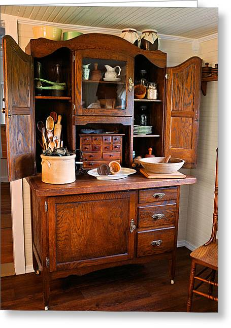 Antique Hoosier Cabinet Greeting Card