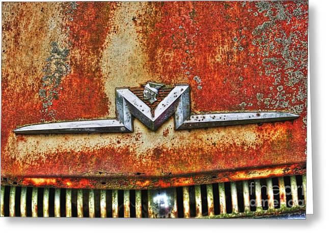 Antique Mercury Auto Logo Greeting Card by Dan Stone