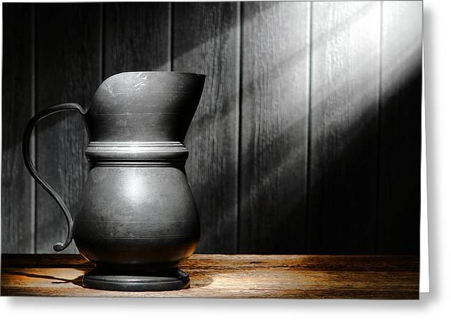 Antique Pewter Pitcher Greeting Card by Olivier Le Queinec